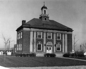 The University Heights Town Hall as it looked in 1932. Visit the Cleveland Memory project at (http://images.ulib.csuohio.edu/cdm/singleitem/collection/clevehts/id/2097/rec/1)